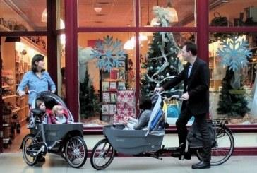 Семейный велосипед-трансформер, который за минуту превращается в детскую коляску