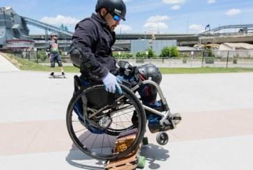 Американец стал единственным инвалидом-колясочником, освоившим скейтборд