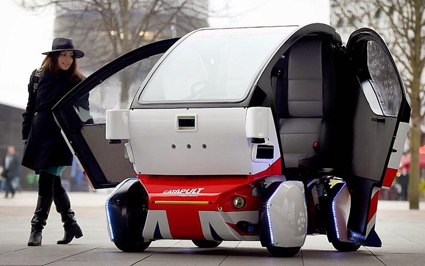 Британские машины-беспилотники станут общественным транспортом