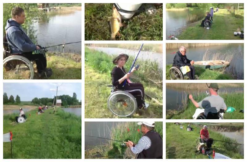 Прошёл первый Чемпионат Беларуси по рыбной ловле среди инвалидов-колясочников