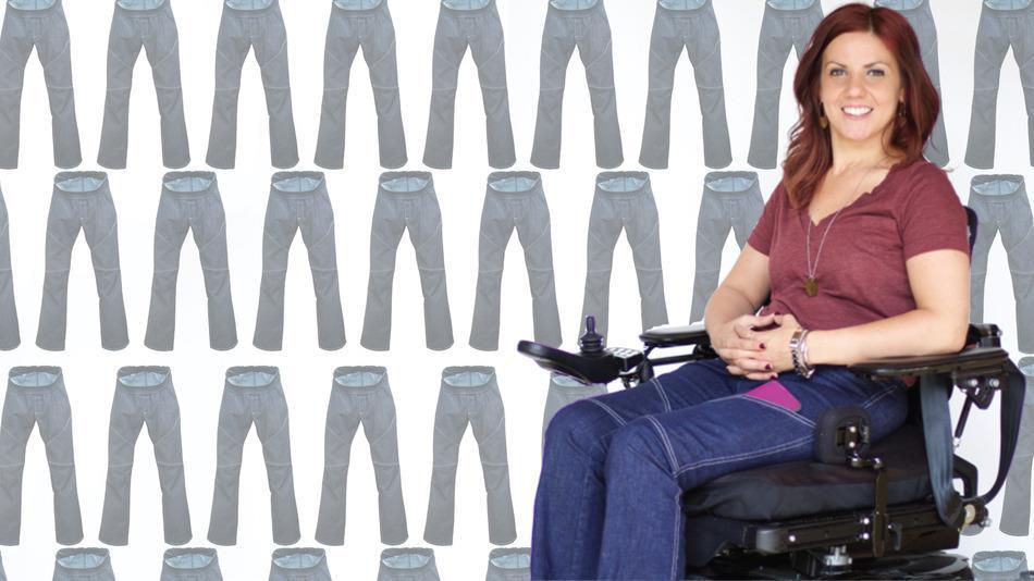 Американка разработала дизайн удобных функциональных джинсов для инвалидов – колясочников