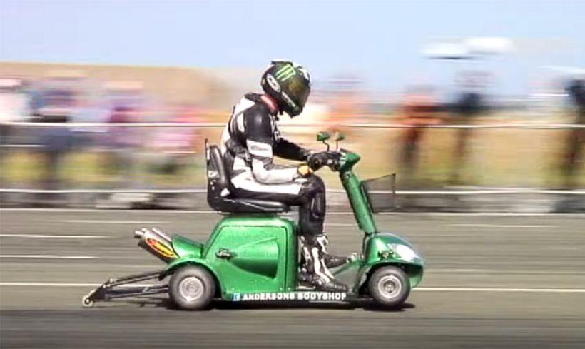 Модифицированный скутер для инвалидов попал в Книгу рекордов Гиннесса