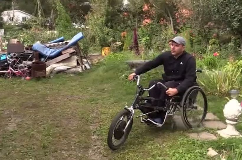 Байкер – инвалид из Серпухова изобрел для себя мотоцикл