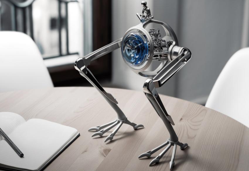 В Швейцарии создали часы-динозавра, которые рассказывают о миодистрофии Дюшенна