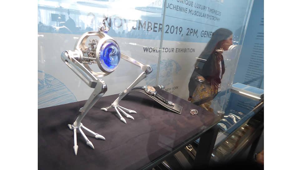 Лот 22 — MB&F + L'Epee Tom & T-Rex. Эстимейт: CHF 20–40 тыс. Продажа: CHF 85 тыс. Фото: Алексей Тарханов, Коммерсантъ