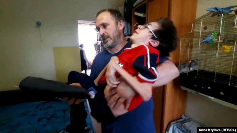 Руслан Ледовский с сыном