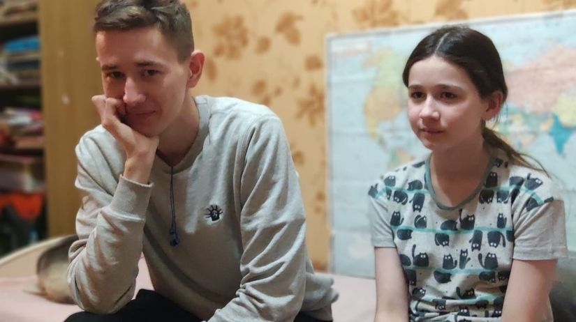 Димины старшие брат и сестра, Иван и Надя