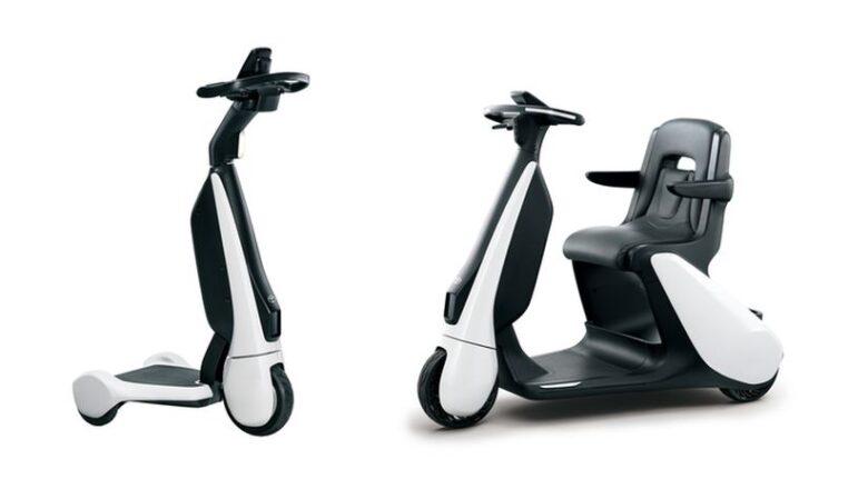 Электросамокат C+walkT — Toyota представила электросамокат для людей с инвалидностью